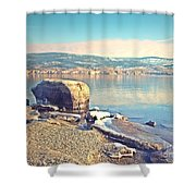 Winter Silence Shower Curtain