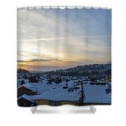 Winter Snow In Happy Valley Oregon Shower Curtain