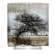 Winter Songs Shower Curtain