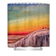 Winter Spectrum Shower Curtain