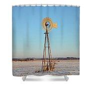 Winter Spins Shower Curtain