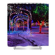 Winter Spirit At Locomotive Park Shower Curtain