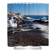 Winter Splash Shower Curtain