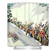 Winter Sport, Mountain, France Shower Curtain