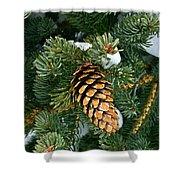 Winter Spruce Shower Curtain