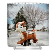 Winter Squirel Shower Curtain