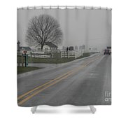 Winter Still Holds On In Early Spring Shower Curtain