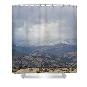 Winter Storm On Desert Mountain Shower Curtain