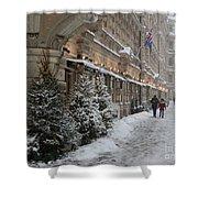 Winter Stroll In Helsinki Shower Curtain