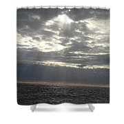 Winter Sun At Sea Shower Curtain