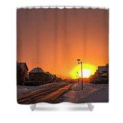 Winter Sun Glow Shower Curtain