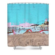 The Beach In Winter  Shower Curtain