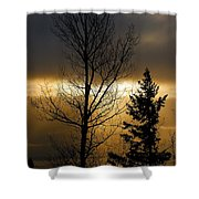 Winter Sunrise 2 Shower Curtain