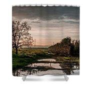 Winter Sunrise Shower Curtain by Arik Baltinester