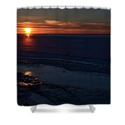 Winter Sunrise At Lake Simcoe  Shower Curtain