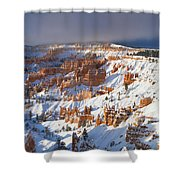 Winter Sunrise Bryce Canyon National Park Utah Shower Curtain