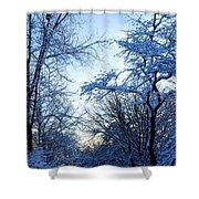 Winter Sunrise II Shower Curtain