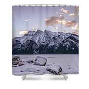Winter Sunrise Lake Minnewanka Shower Curtain