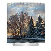Winter Colors. Shower Curtain