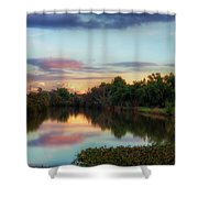 Winter Sunset On The Slough Shower Curtain