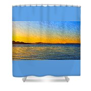 Winter Sunset Over Ipswich Bay Shower Curtain