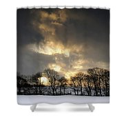 Winter Sunset, Trough Of Bowland, England Shower Curtain