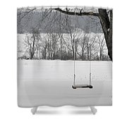 Winter Swing Shower Curtain