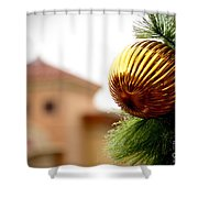 Winter Theme Shower Curtain
