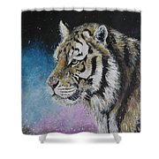 Winter Tiger Shower Curtain