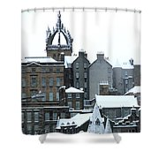 Winter Townscape Scotland Shower Curtain