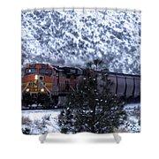 Winter Train Shower Curtain