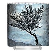 Winter Tree II Shower Curtain