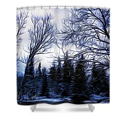 Winter Trees In Sweden Shower Curtain