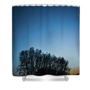 Winter Trees On The Background Of The Night Sky Shower Curtain