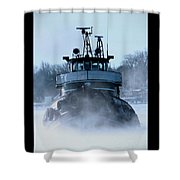 Winter Tug Shower Curtain