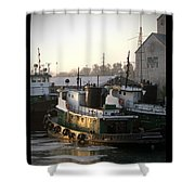 Winter Tugs Shower Curtain