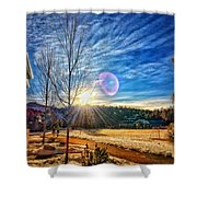 Winter Up North Shower Curtain