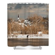 Winter View Of Allenstown Shower Curtain