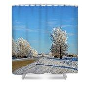 Winter In Saskatchewan Shower Curtain