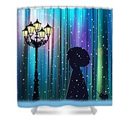 Winter Walk In The Magical Forest Shower Curtain