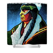 Winter Warrior Shower Curtain