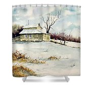 Winter Washday Shower Curtain