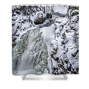 Winter Waterfall Shower Curtain