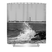 Winter Wave Shower Curtain