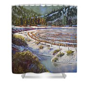 Winter Wheat Shower Curtain