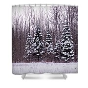 Winter White Magic Shower Curtain