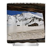 Winter Window View Shower Curtain
