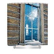 Winter Windows Shower Curtain