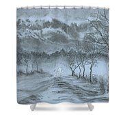 Winter With My Lover Shower Curtain