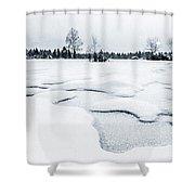 Winter Wonderland Bw Shower Curtain